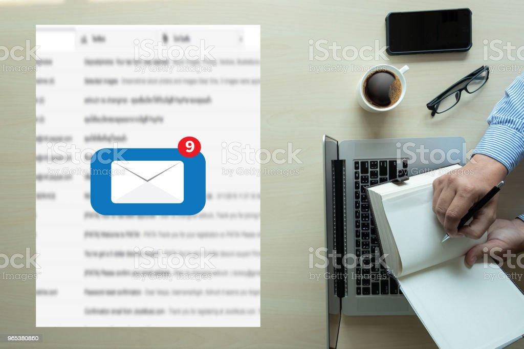 Message de connexion de Communication courrier postale contacts téléphone Concept Global de lettres - Photo de Adulte libre de droits