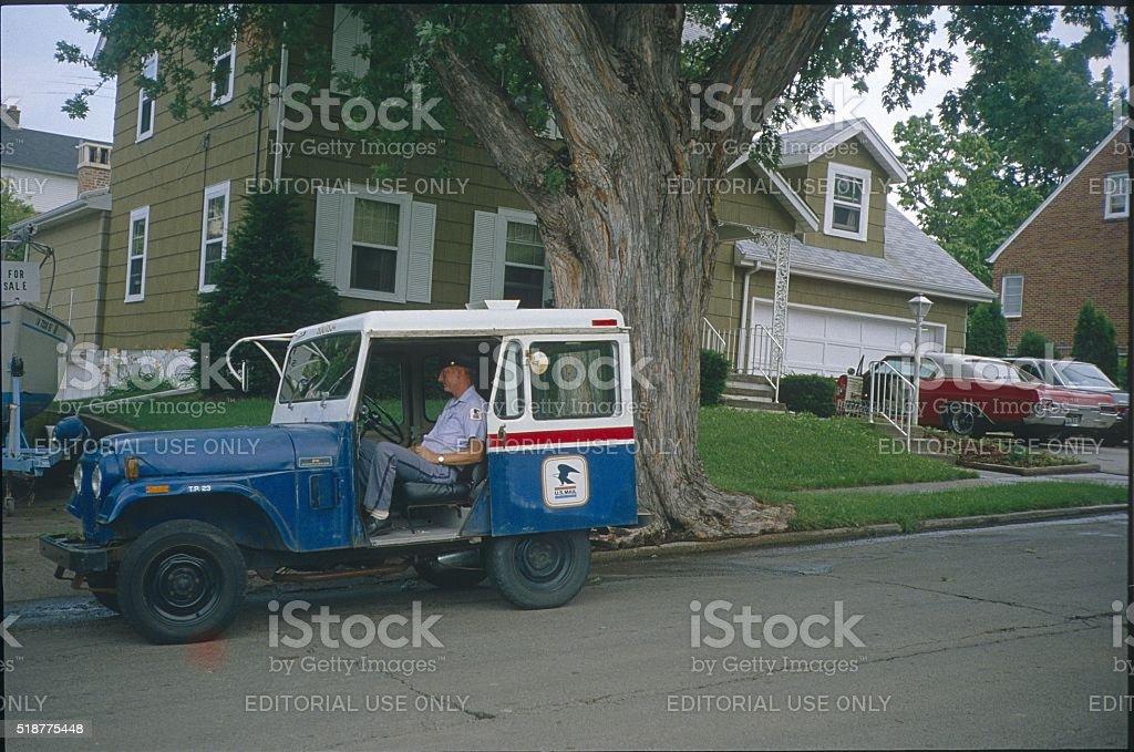 U.S. Mail delivery employee, Louisiana stock photo