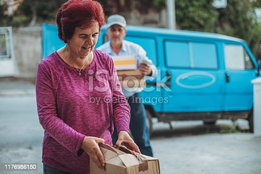 891482746istockphoto Mail delivery to your home address 1176986150