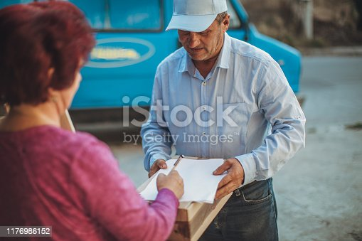 891482746istockphoto Mail delivery to your home address 1176986152
