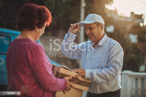 891482746istockphoto Mail delivery to your home address 1176986154