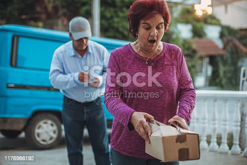 891482746istockphoto Mail delivery to your home address 1176986192
