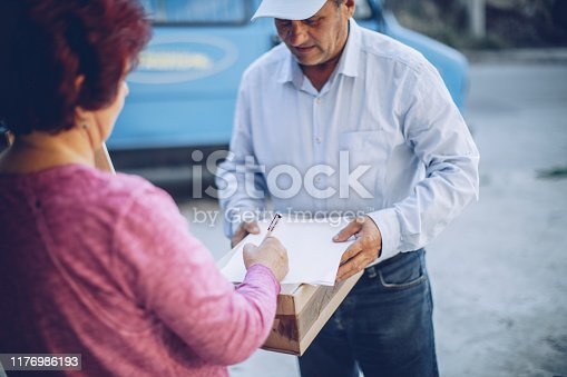 891482746istockphoto Mail delivery to your home address 1176986193