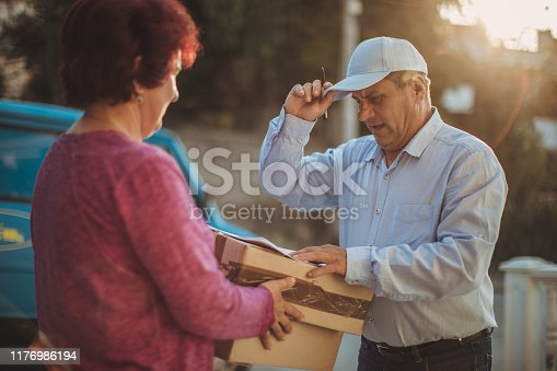 891482746istockphoto Mail delivery to your home address 1176986194