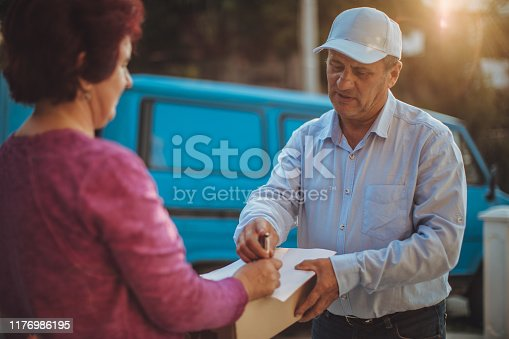 891482746istockphoto Mail delivery to your home address 1176986195