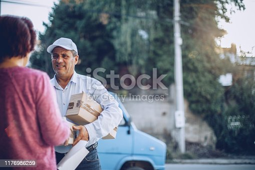 891482746istockphoto Mail delivery to your home address 1176986259