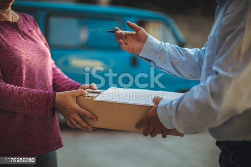 891482746istockphoto Mail delivery to your home address 1176986280
