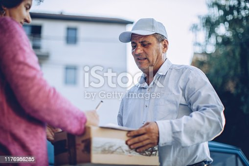 891482746istockphoto Mail delivery to your home address 1176986285