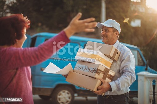 891482746istockphoto Mail delivery to your home address 1176986360