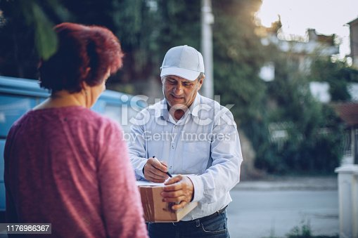 891482746istockphoto Mail delivery to your home address 1176986367