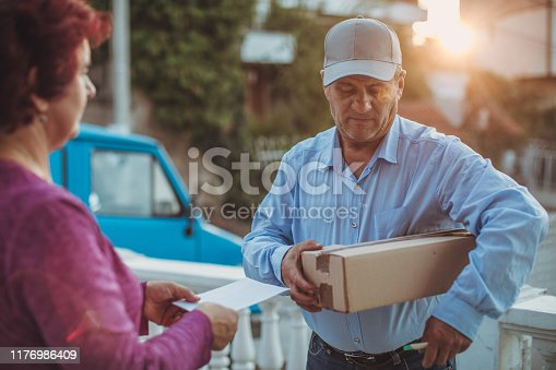891482746istockphoto Mail delivery to your home address 1176986409