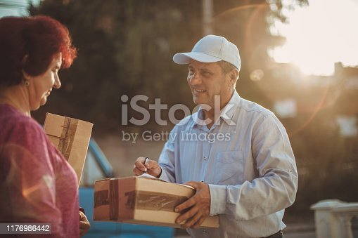 891482746istockphoto Mail delivery to your home address 1176986442