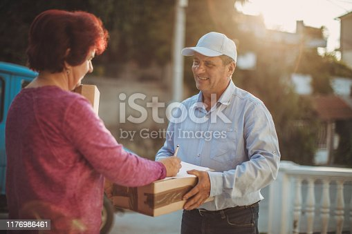 891482746istockphoto Mail delivery to your home address 1176986461