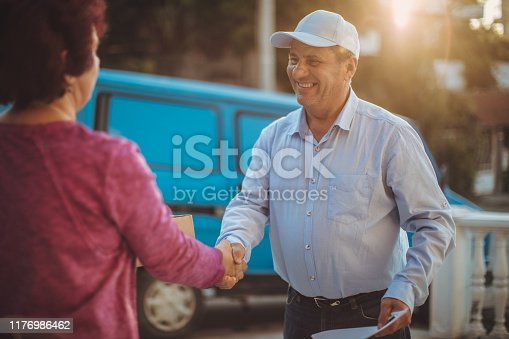 891482746istockphoto Mail delivery to your home address 1176986462