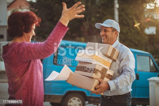 891482746istockphoto Mail delivery to your home address 1176986470