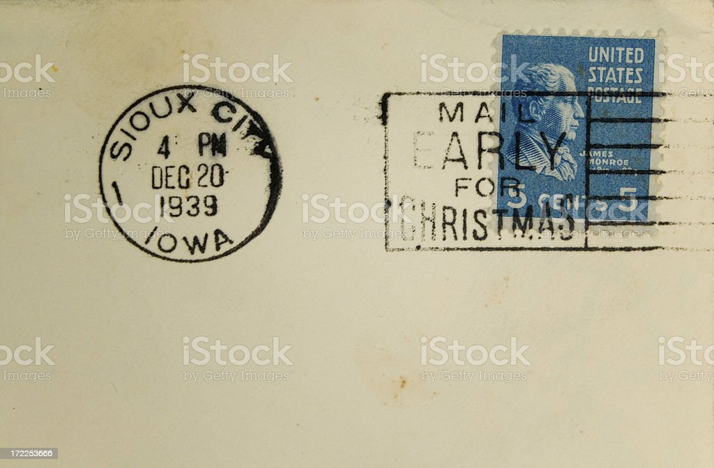 Mail early for christmas stock photo