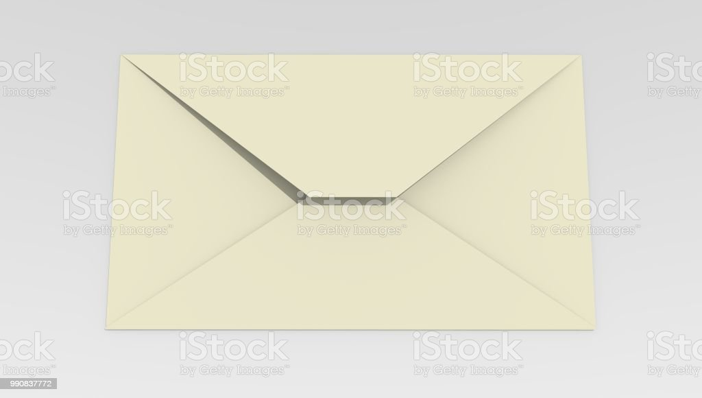 Mail envelope on a white background стоковое фото