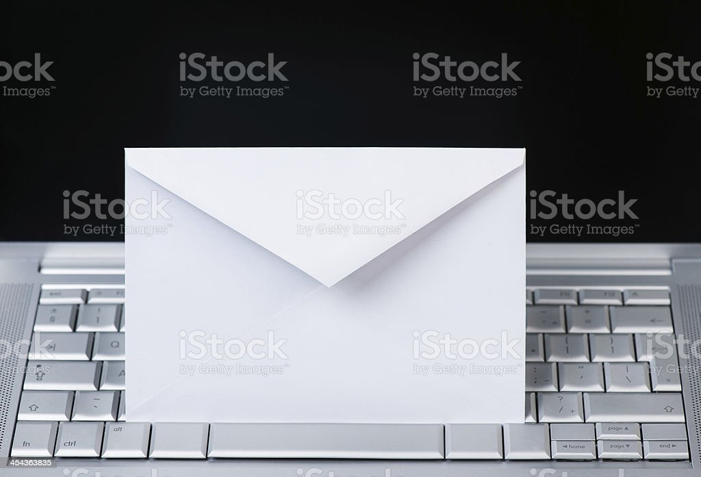 Mail envelope on computer royalty-free stock photo
