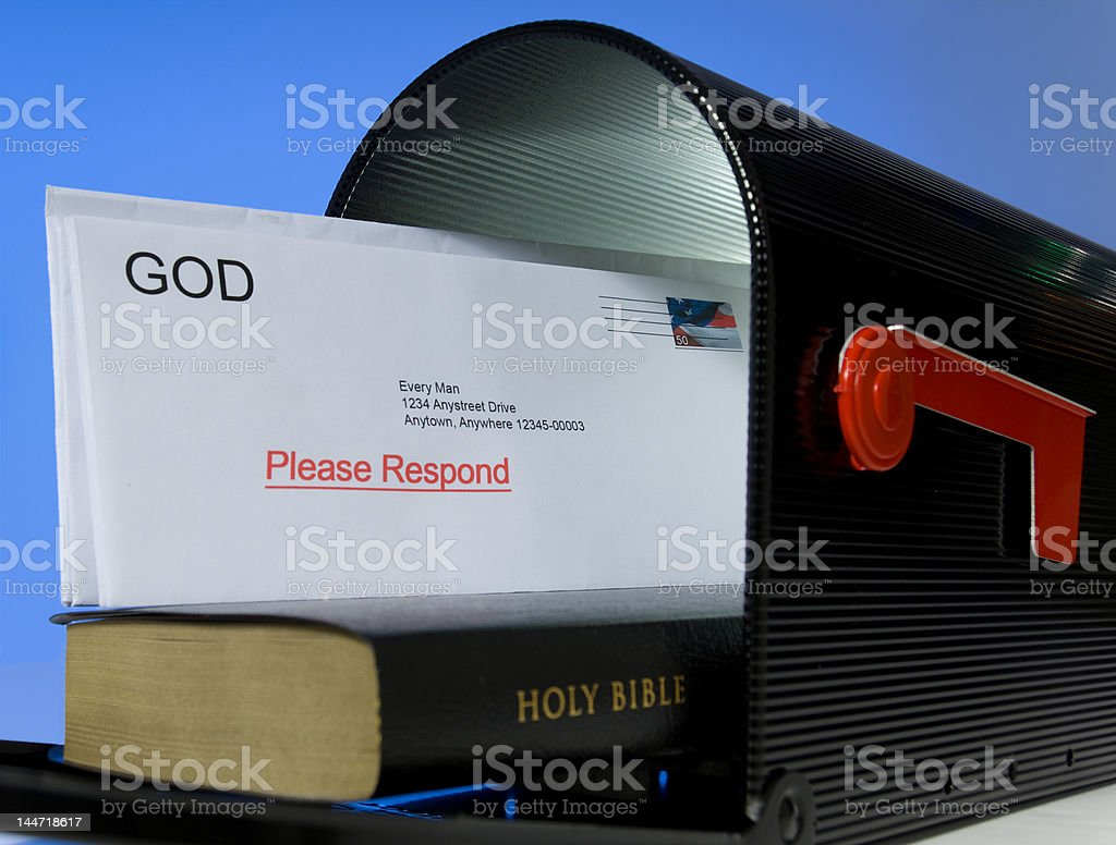 Mail from God royalty-free stock photo
