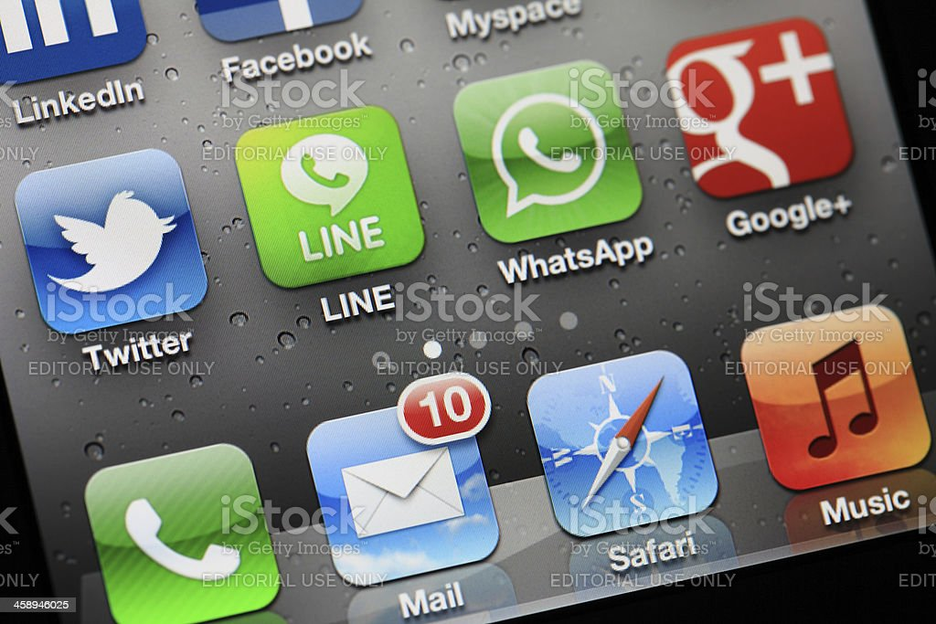 Mail icon on iphone royalty-free stock photo