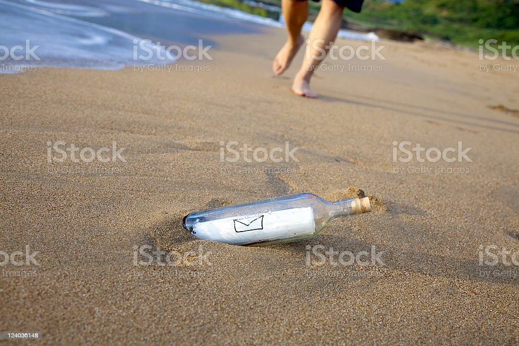 mail in the bottle royalty-free stock photo