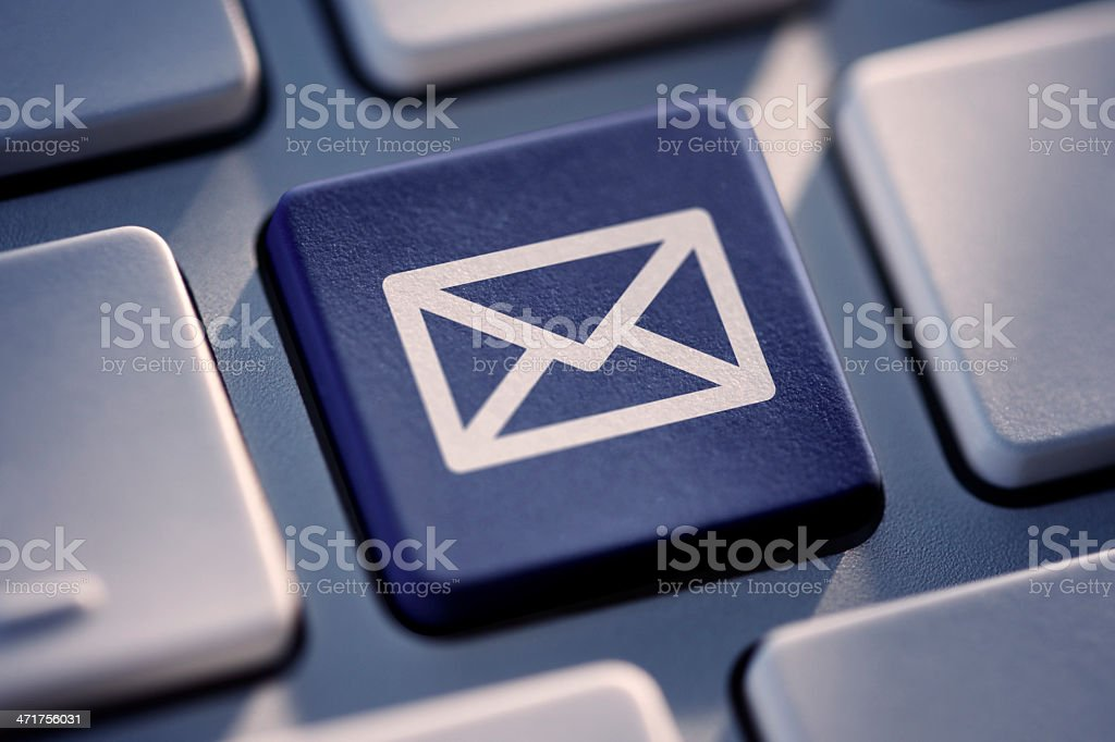 Mail Key On Computer Keyboard royalty-free stock photo
