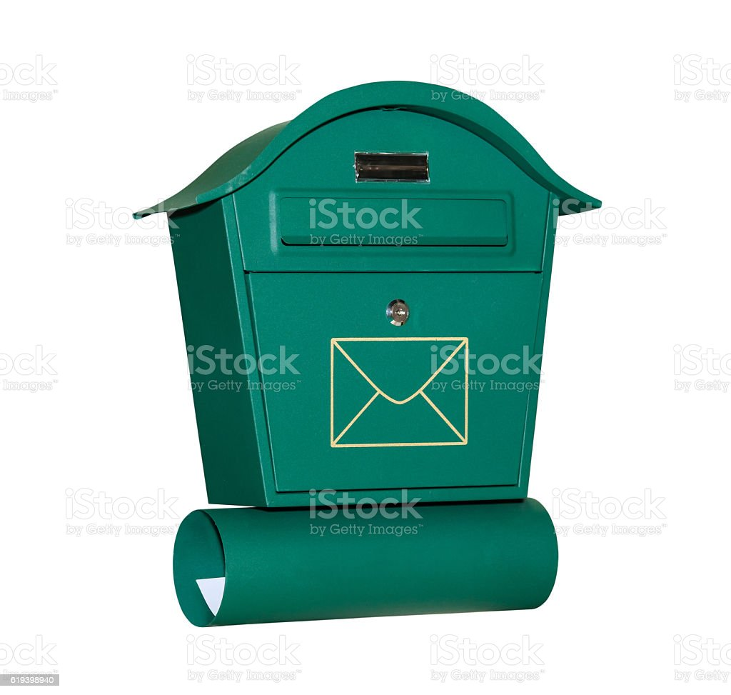 Mail letter box stock photo