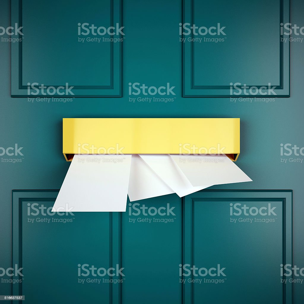 Mail Letters Represents Sent Communicate And Post stock photo