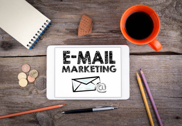 E mail marketing, Business Plan concept stock photo