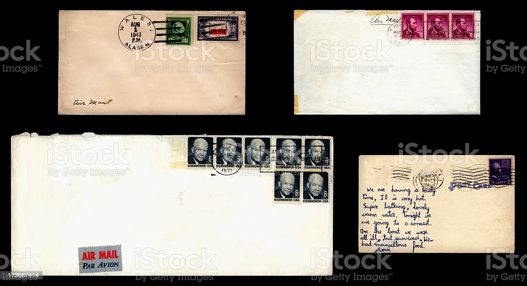 US mail on black royalty-free stock photo