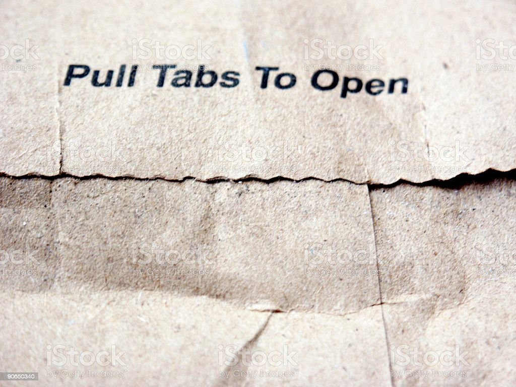 mail: pull tabs to open royalty-free stock photo