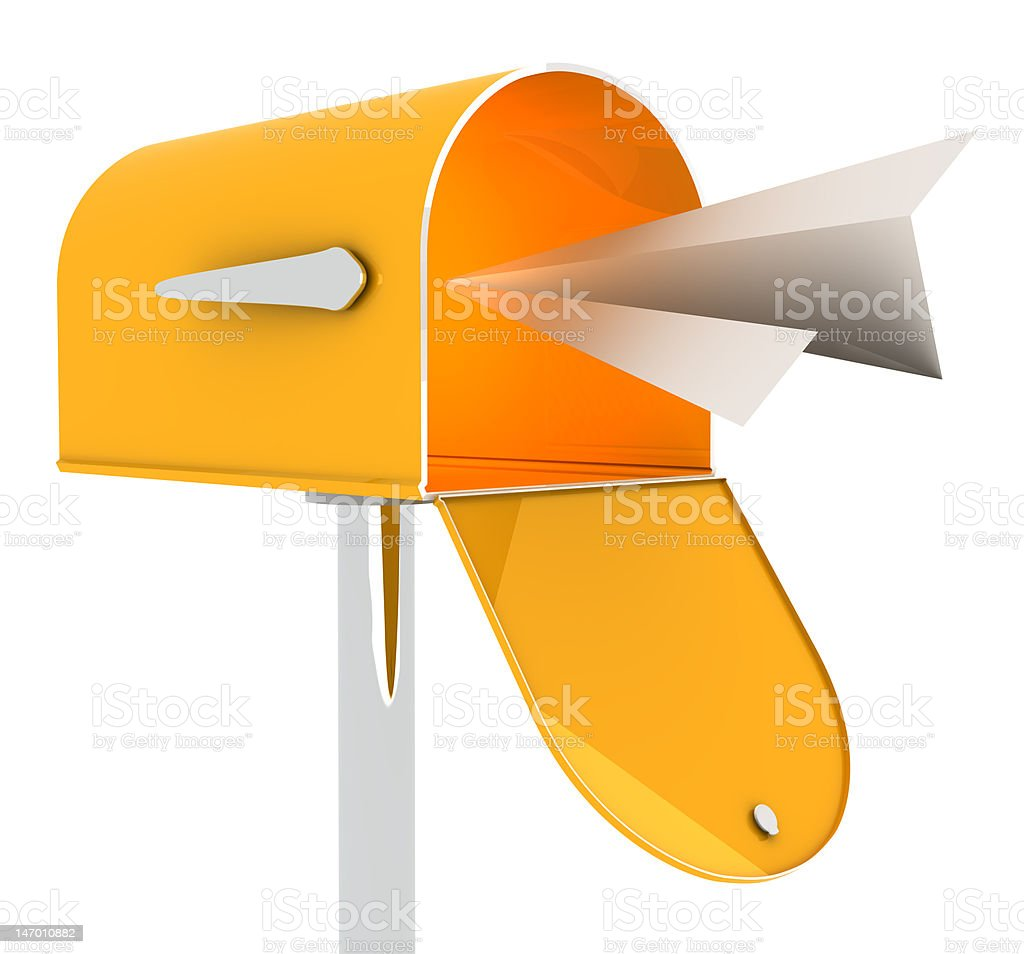 Mail Received royalty-free stock photo