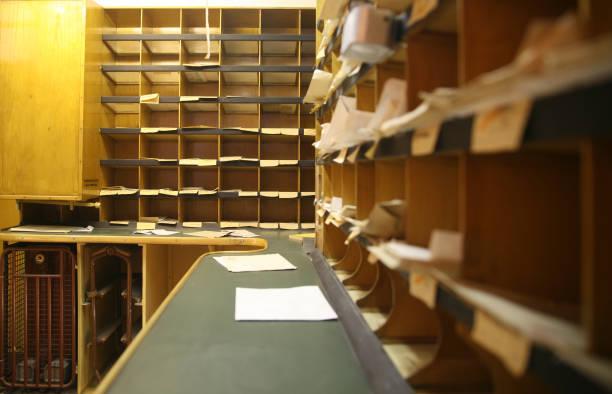 Mail room stock photo