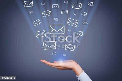 istock Mail Sending on Visual Screen 512630516