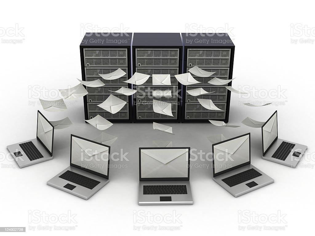 Mail Server royalty-free stock photo