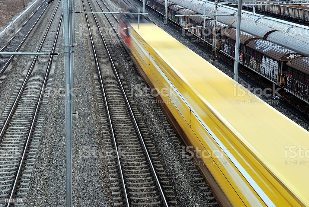 Mail train royalty-free stock photo