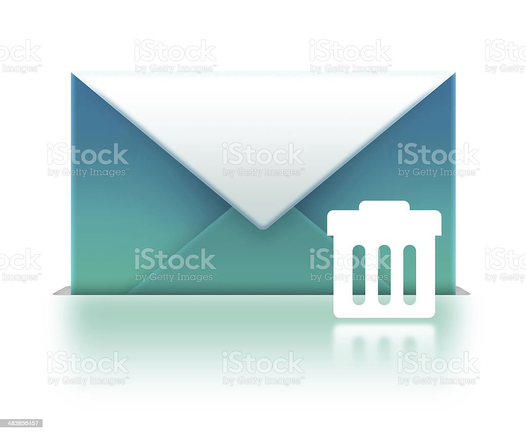 Mail with bin stock photo