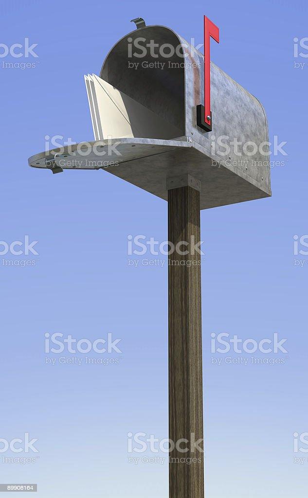 Mailbox & Sky royalty-free stock photo