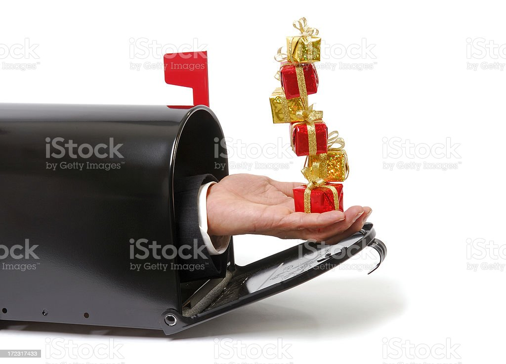 Mailbox Gifts royalty-free stock photo