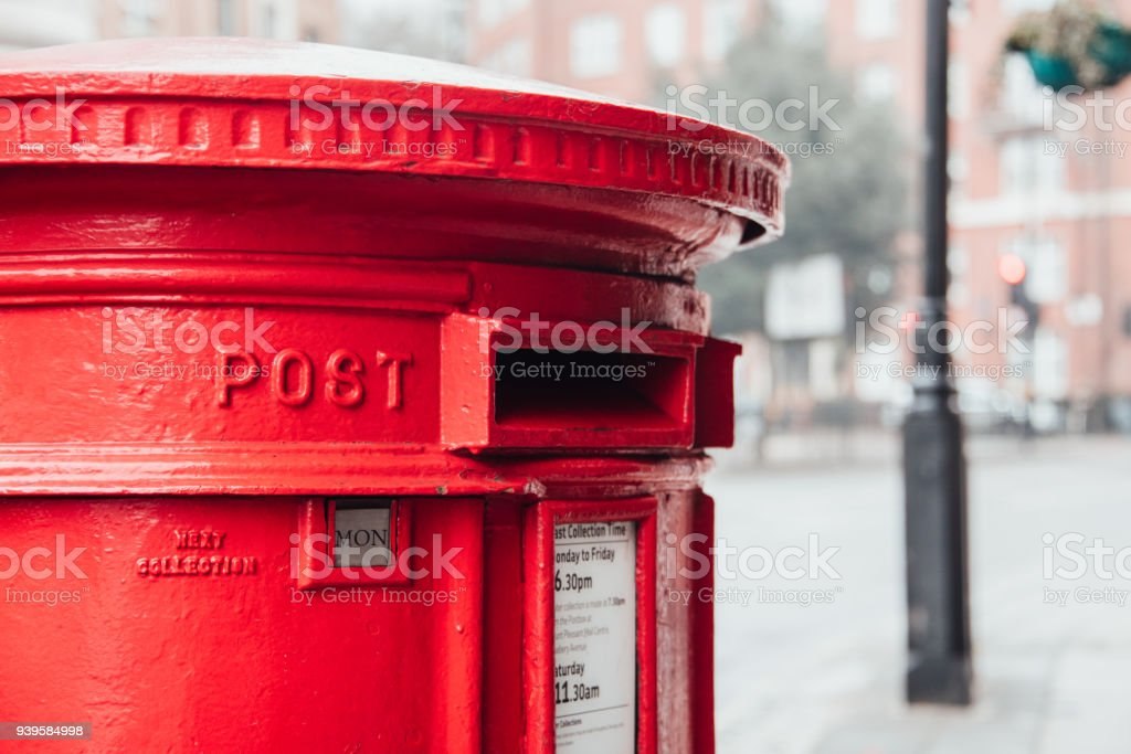Mailbox in the UK - foto stock