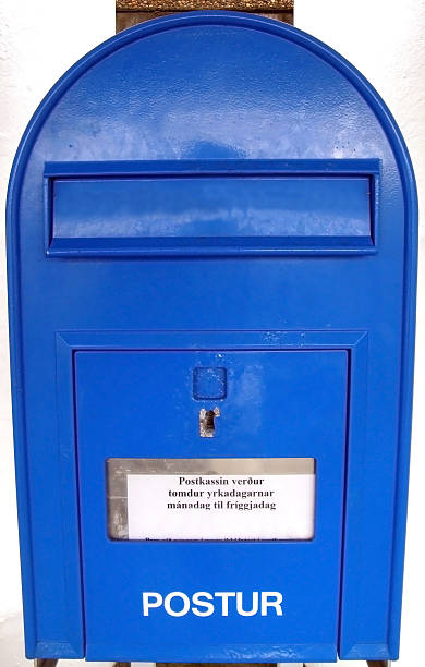 mailbox in thorshavn, faroe islands - imagean faroe islands stock photos and pictures