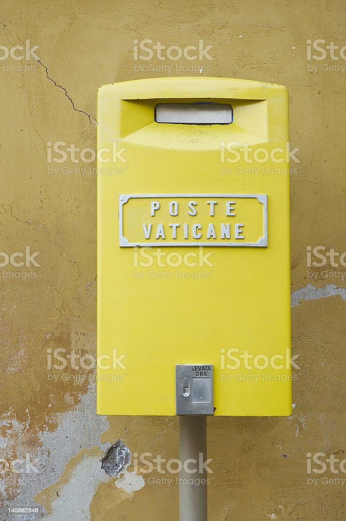 mailbox in vatican city royalty-free stock photo