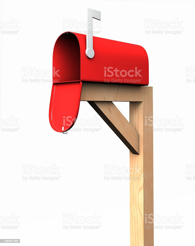 Mailbox, isolated stock photo