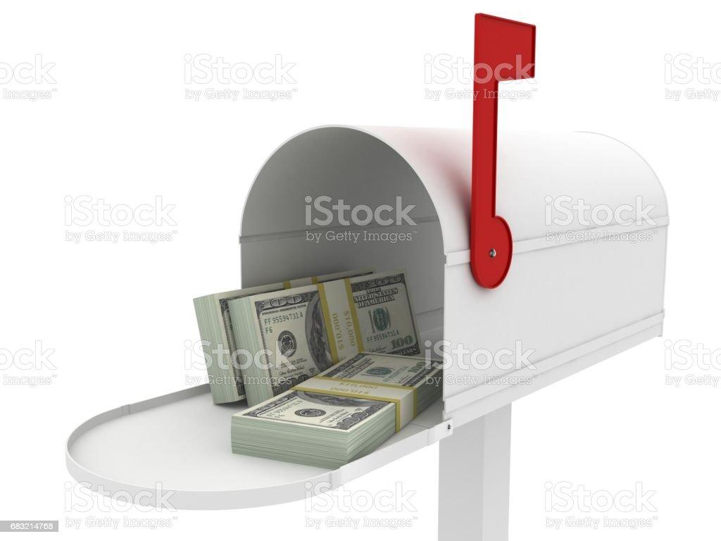 郵箱錢業務回扣退款 免版稅 stock photo