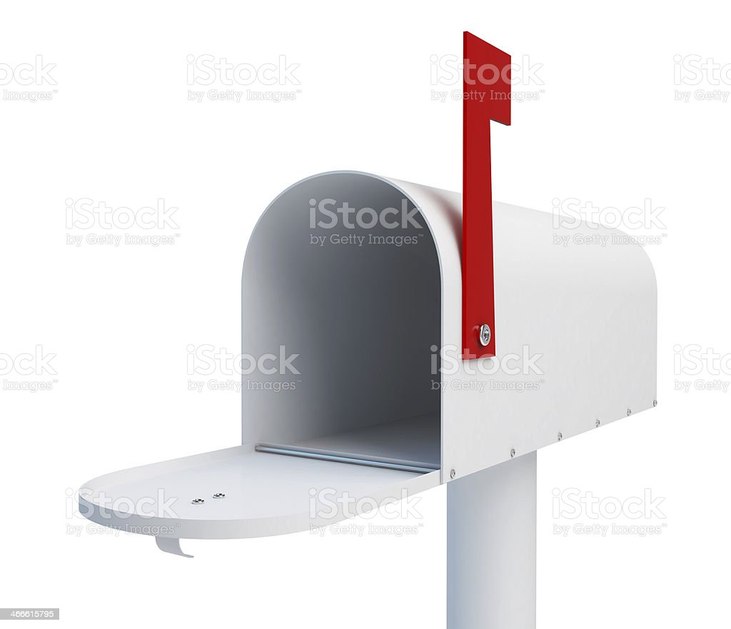 mailbox open stock photo