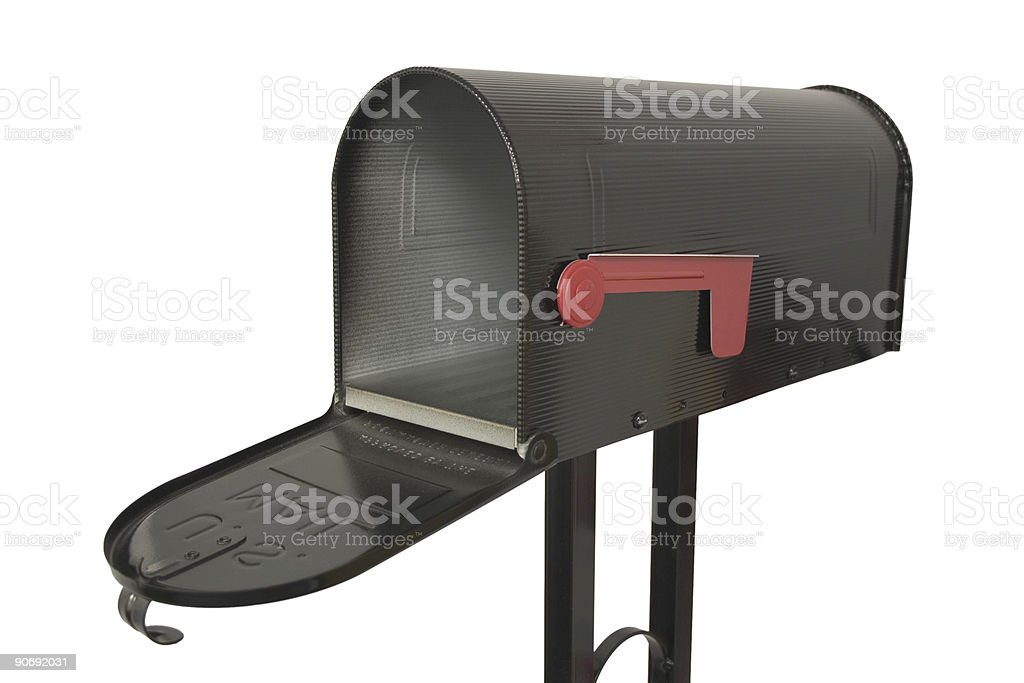Mailbox Opened Up stock photo