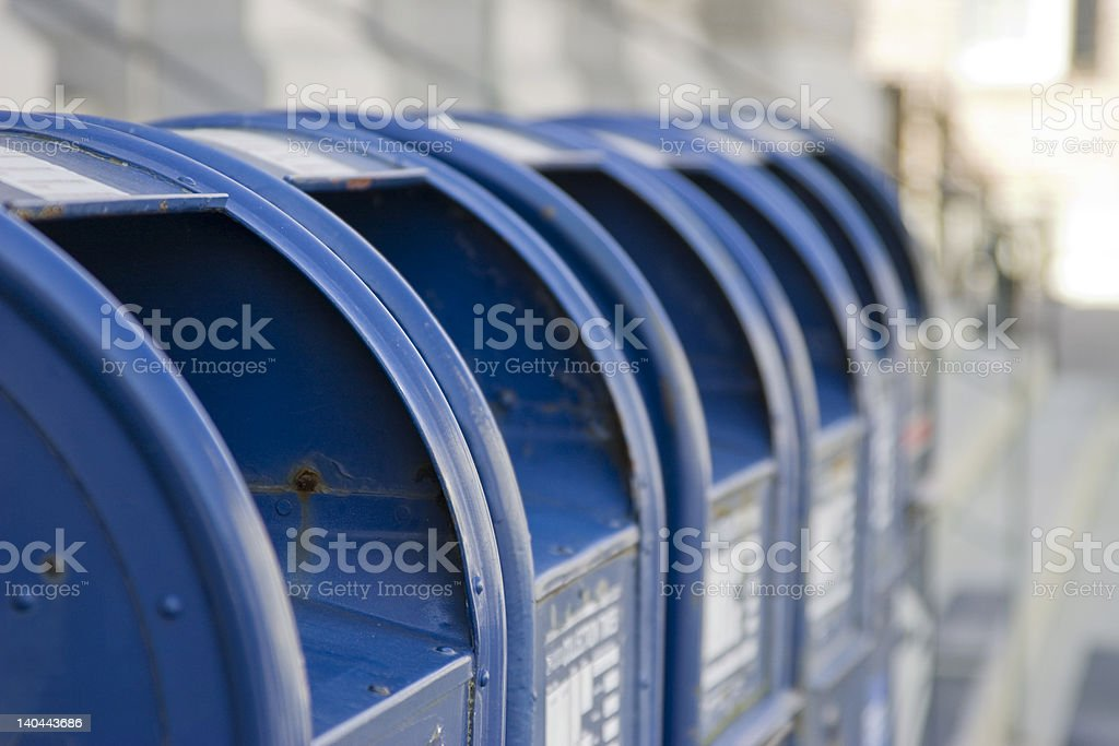 Mailbox Row stock photo