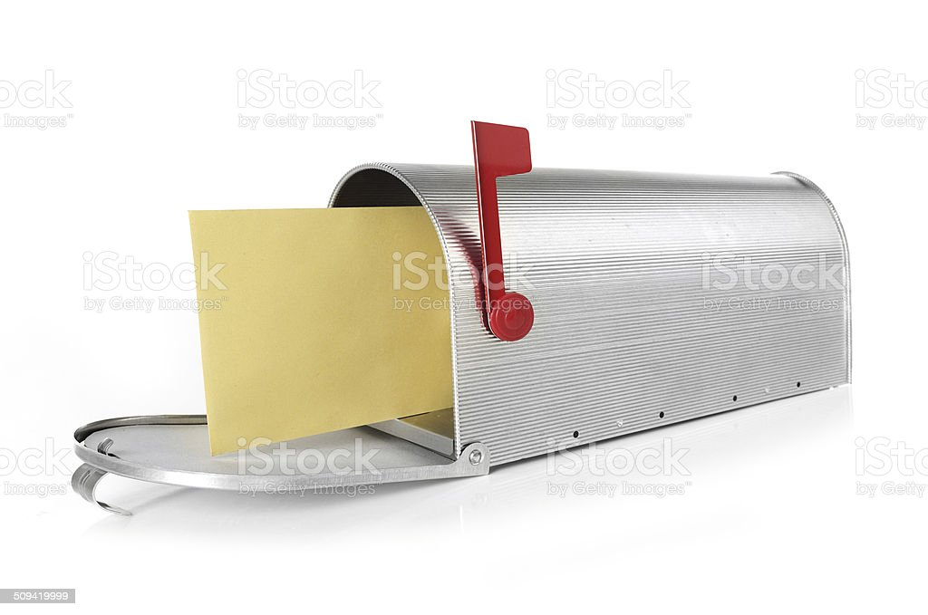 Mailbox with envelope stock photo