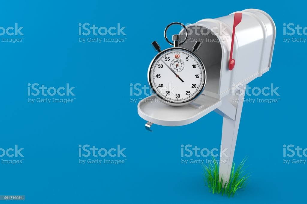 Mailbox with stopwatch royalty-free stock photo