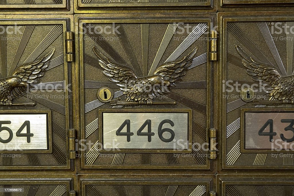 Mailboxes Close-up royalty-free stock photo
